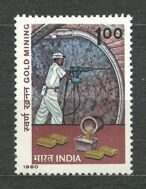 Mining of gold in India