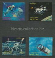 Space exploration of the Moon (stereo stamps)
