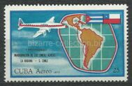 The first anniversary of air flight Havana - Chile