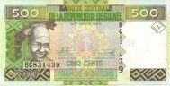 Guinea genuine banknote 500 francs 2017