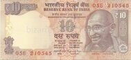Genuine banknote India 10 rupees 2016