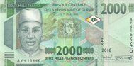 Genuine banknote Guinea 2000 franks 2018